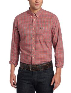 Fred Perry Men's Tartan Pinpoint Oxford Shirt, « Impulse Clothes