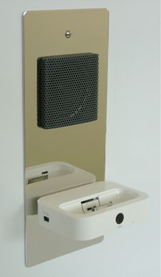 iPhone Speakers built into the wall!