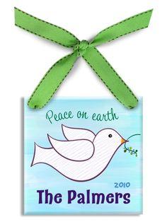 Personalized christmas ornament noahs ark blue christmas ebf05b7071acb3b99489c8e88f9aff51 peace dove personalized baby giftsg negle Gallery