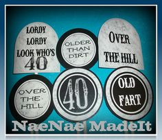 40th Birthday Over the Hill Cupcake Toppers by NaeNaeMadeIt, $7.50