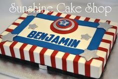 Captain America Sheet Cake