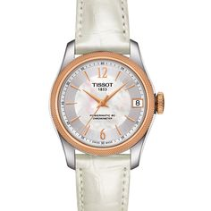 """Tissot Ballade Ladies' Watch With COSC-Certified Powermatic 80.111 Movement - by Carol Besler - More on this Powermatic up now at: aBlogtoWatch.com - """"Tissot's new COSC-certified automatic Powermatic 80.111 caliber is a major step toward improving the traditional approach to ladies' mechanical watchmaking. The new movement is used in the Tissot Ballade, a 32mm ladies' classic watch that is priced at under $1,000..."""""""