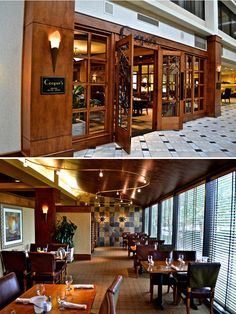 Totally in love with Tennessee wedding venue Hilton Knoxville Airport. Check out their rehearsal dinner restaurant! | The Pink Bride www.thepinkbride.com