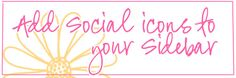 Great tutorial. How to add social icons to your sidebar.