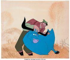 Paul Bunyan and Babe the Blue Ox Production Cel Setup (Walt Disney, 1958).