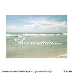 Shop Customizable Beach Wedding Accomodations Card created by modernweddings. Elegant Wedding, Rustic Wedding, Vintage Wedding Invitations, Lace Weddings, Invitation Cards, Custom Design, Nature, Prints, Outdoor