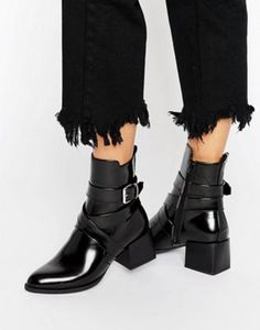 Boohoo Block Heeled Ankle Boot