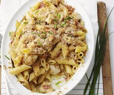 Chicken penne carbonara with crispy crumbs recipe | Food To Love