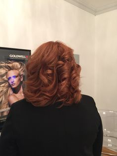 Wella Illumina formula: 1/2 7/43 and 1/2 9/03 with 20 vol peroxide, on a base 5 with 35% grey hair! Gorgeous natural red/copper hair color!!