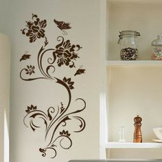 Wall stickers wall covering flower 1 meters 2 $19.10