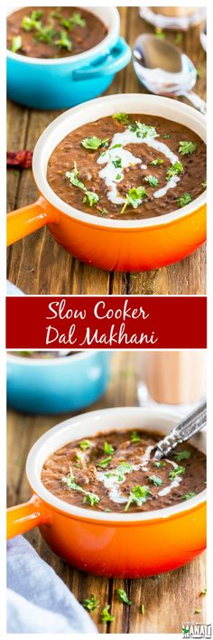 India's famous Dal Makhani made the in the slow cooker. Lightly tempered, creamy and tastes great with rice or naan. Find the recipe on www.cookwithmanali.com