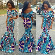 Lovely Ankara Long Gown Style http://www.dezangozone.com/2016/05/lovely-ankara-long-gown-style.html
