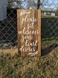 Please sit wherever your heart desires// Hand by ALEXISBETHdesigns