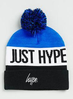 Hype – Bonnet bleu avec pompon