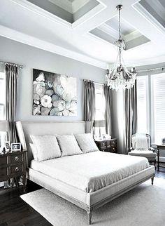 ♅ Dove Gray Home Decor ♅ white & grey bedroom