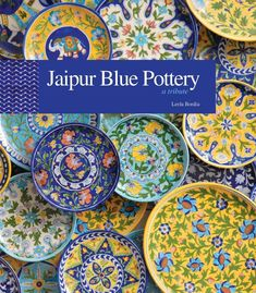 Blue pottery started in Jaipur in the early century. Sawai Ram Singh II set up a School of Art and encouraged craftsmen from all over the country to come and produce a blue pottery unique to Jaipur. Pottery Plates, Ceramic Plates, Ceramic Pottery, Pottery Art, Pottery Houses, Mccoy Pottery, Thrown Pottery, Pottery Wheel, Pottery Painting