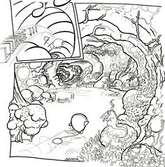 part of a page from Gush vs. Virtual Pet. The comic i have been working on for a few months now.