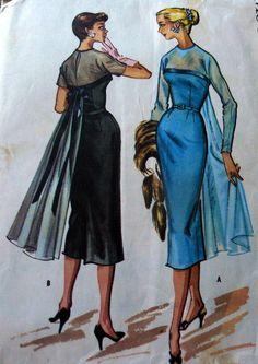 LOVELY VTG 1950s DRESS McCALLS Sewing Pattern 16/36