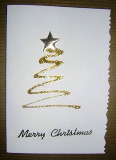 Christmas cards handmade design ideas 79 - Things to do Homemade Christmas Cards, Christmas Cards To Make, Handmade Christmas, Homemade Cards, Christmas Crafts, Christmas Decorations, Merry Christmas, Xmas Cards Handmade, Gold Christmas