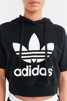 adidas Originals Cropped Hoodie Sweatshirt - Urban Outfitters