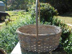 Large Wicker Basket Large Basket Vintage Basket by LillysBytheSea