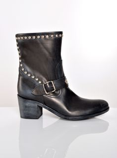 Young British Designers: Peta Ankle Boots With Studs by Lama Peach - Easy to wear ankle boots with just the right blend of comfort, style and grunge.