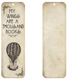 Free printable - Vintage air balloon bookmark