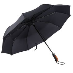 Windproof Travel Umbrella 10 Ribs Unbreakable Auto Open Close Waterproof Stormproof Canopy Rustproof Automatic Folding Compact Portable Rain Umbrellas for Men and Women * Trust me, this is great! Click the image. : Christmas Luggage and Travel Gear