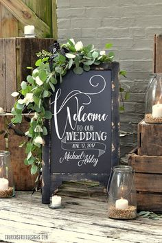 wedding chalkboard with message double sided chalkboard chalkboard easel sandwich chalkboard welcome to our wedding Wedding Chalkboard Wedding Ideas - CowlesNCP ~ Make your Wedding Ideas Diy Wedding, Rustic Wedding, Wedding Flowers, Wedding Ideas, Cottage Wedding, Wedding Rings, Handmade Wedding, Green Wedding, Wedding Themes