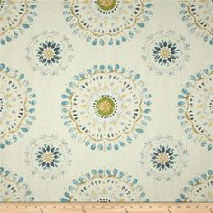 Robert Allen @ Home Color Wheel Rain from @fabricdotcom  Screen printed on cotton duck; this versatile medium weight fabric is perfect for window accents (draperies, valances, curtains and swags), accent pillows, duvet covers and upholstery. Create handbags, tote bags, aprons and more. Colors include grey, green, yellow, blue and ivory.