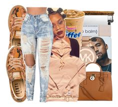 """"""""""" by xbad-gyalx ❤ liked on Polyvore featuring Puma, Michael Kors and MICHAEL Michael Kors"""