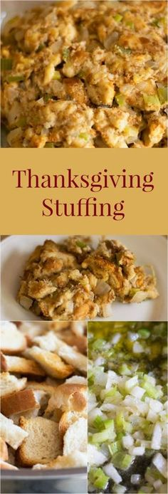 Thanksgiving Stuffing Moist and delicious stuffing just the way my Nana makes it. More from my site Make Ahead Turkey Gravy for Thanksgiving Pumpkin Pie Twists Thanksgiving Stuffing Recipe 10 Minute Spinach Dip Stuffing Recipes For Thanksgiving, Thanksgiving Side Dishes, Thanksgiving Turkey, Thanksgiving Desserts, Christmas Desserts, Dressing For Thanksgiving, Traditional Thanksgiving Dinner, Holiday Foods, Thanksgiving Decorations