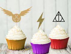 Harry Potter Cupcake Topper mis  fête par AlohomoraPaperCo sur Etsy