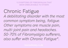 Chronic fatigue syndrome and fibromyalgia often have very similar treatments due to the fact that these two syndromes share a lot of common characteristics. If you are a chronic fatigue syndrome or fibromyalgia patient, the treatments Fibromyalgia Symptoms Checklist, Signs Of Fibromyalgia, Fibromyalgia Flare, Fatigue Causes, Chronic Fatigue Syndrome Diet, Chronic Illness, Chronic Pain, A Little Life, Nerve Pain