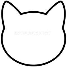 Animal T-Shirts - Cat Icon Outline - Women's Premium T-Shirt white Cat Applique, Applique Patterns, Quilt Patterns, Applique Templates, Cat Template, Templates Printable Free, Quiet Book Templates, Crown Template, Butterfly Template