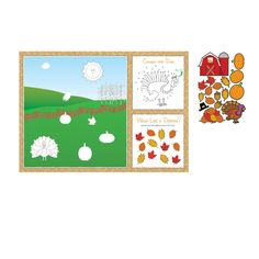 Fall Placemats with Activity Stickers