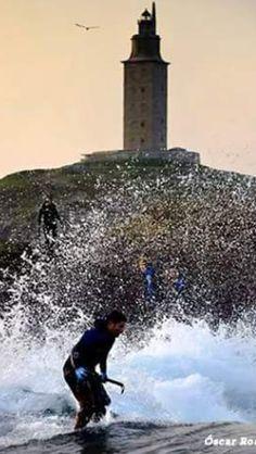 Percebeiro. Torre de Hércules. A Coruña. Galicia.