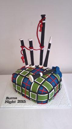 Burn's Night Bagpipe Cake