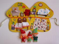 Manófalvi Marci, Mimi és Mira óriás gombaházikója- játszókönyvecske, Baba-mama-gyerek, Játék, Baba, babaház, Készségfejlesztő játék, Meska