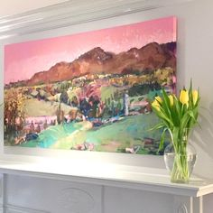 Home Tour - Large Colorful Landscape | Living Room Mantel