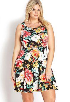 Vibrant Floral Fit & Flare Dress