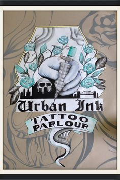 Leaving cert poster urban ink tattoo parlour Tattoo Parlors, Cd Cover, Signage, Tatoos, Parlour, Stamp, Graphic Design, Ink, Urban