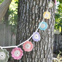 Baby Sweet Garland  Pastel Flower  Crochet  Bunting  by MistyandMe, $25.00