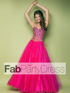 2013 Style Ball Gown Sweetheart Beading Sleeveless Floor-length Tulle Prom Dresses / Evening Dresses (SZ0300096) - FabPartyDress.com