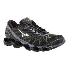Men s Mizuno Wave Prophecy 7 Running Shoe - Black Silver Performance Shoes  Mustat Kengät 5f427d3379