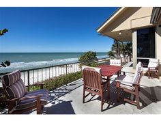 After a long, leisurely stroll on the beach, you can sip ice tea from this beachfront terrace. What would you sip if you were sitting on this balcony? Port Royal Naples, Naples Florida, Balcony, Terrace, Ice, Canning, Beach, Outdoor Decor, Home Decor