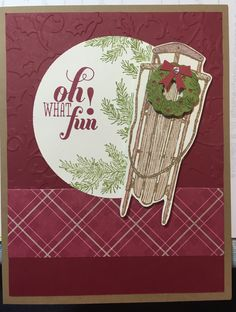 Winter Wishes Stampin' Up 2015 Christmas Wood Crafts, Stampin Up Christmas, Christmas And New Year, All Things Christmas, Holiday Cards, Christmas Cards, Alpine Adventure, New Year Card, Winter Cards