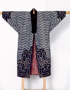 Unknown Ainu Artist, Man's Ceremonial Robe, late 19th-early 20th century (Late Edo-Meiji period). Cotton, silk thread, embroidery, applique;...