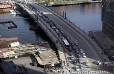 Innovation District fixes: A new report suggests relieving congestion on the Northern Avenue Bridge (above) by opening up the South Boston Bypass Road to regular traffic. It is currently available only to commercial traffic.