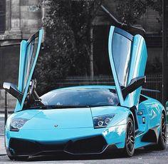 Baby Blue Lamborghini